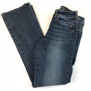 AEO American Eagle Womens Jeans 2 LONG Super